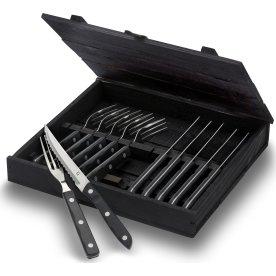 Gense Old Farmer Black bestik 6 gafler+6 knive