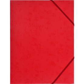 Budget elastikmappe, karton, rød