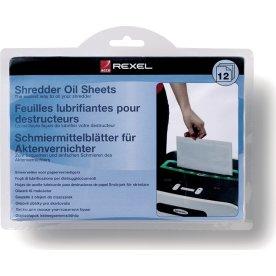Rexel 2101949 olieret ark til makulator, 20stk