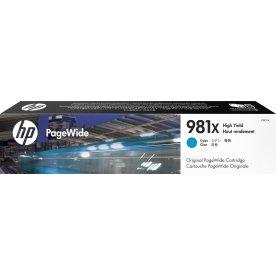 HP No981X blækpatron, cyan, 10.000s