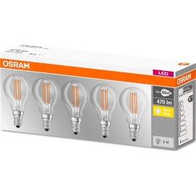 Osram Retro LED Kertepære klar E14, 4W=40W 5-pak