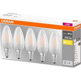Osram Retro LED Kertepære mat E14, 4W=40W 5-pak
