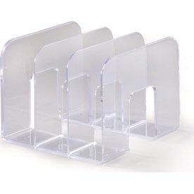 Durable bogstøtte / katalogholder, transparent
