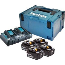 Makita Batteripakke, 4 x BL1850B + DC18RD
