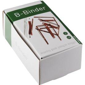B-binder 80 mm plastbelagt metal 100 stk., rød