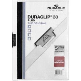 Durable Duraclip 30 Plus Klemmappe, hvid, 25 stk.