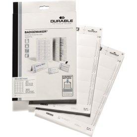 Durable Indstik til navneskilt 40 x 60 mm, 360 stk