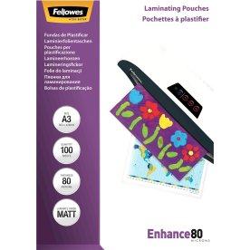 Fellowes A3 lamineringslommer, 80 mic