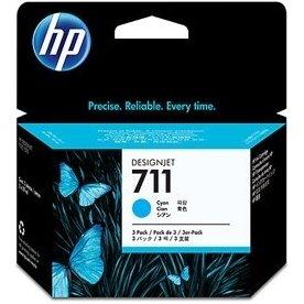 HP No711 3 stk. blækpatroner, cyan, 29 ml