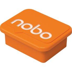 Nobo orange magneter til whiteboard, 4 stk