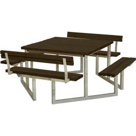 Plus Twist bord/bænkesæt, m/2 Ryglæn, Sort, 204 cm