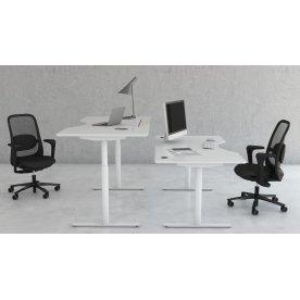 InLine hæve/sænkebord 160x90 hvid/hvid m. center