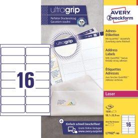Avery L7162-100 Q.P. adr.etiketter, 99,1 x 33,9mm