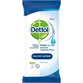 Dettol Power & Pure Wipes, 72 stk.