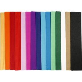 Play Cut Crepepapir, 50x250cm, 60 læg, ass. farver