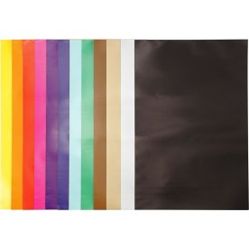 Glanspapir, 32x48 cm, 80g, 100 ark, ass. farver