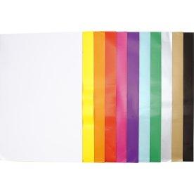 Glanspapir, 32x48 cm, 80g, 275 ark, ass. farver