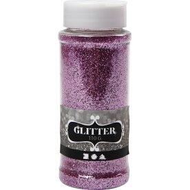 Glitterdrys, pink, 110 g