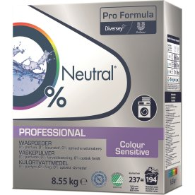 Neutral Pro Vaskepulver Colour Sensitive, 8,55 kg