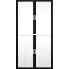 Paperflow Easy Office 2 m, 4 hylder, Sort/hvid