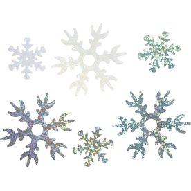 Pailletter Snefnug, blå/hvid/sølv, 30 g