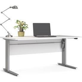 BudgetLine hæve/sænkebord, 150x80cm, hvid/alu stel