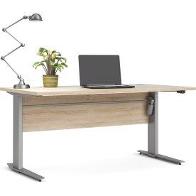 BudgetLine hæve/sænkebord, 150x80cm, eg/alu stel