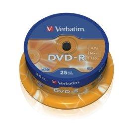 Verbatim DVD-R 16x 4,7GB spindel, 25 stk