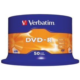 Verbatim DVD-R 16x 4,7GB spindel, 50 stk