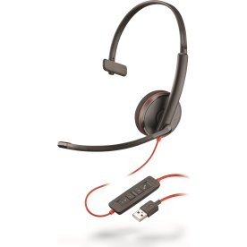 Poly Blackwire 3210 USB-A mono headset, sort