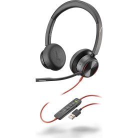 Poly Blackwire 8225 USB-A stereo headset, sort