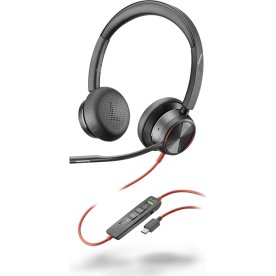 Poly Blackwire 8225 USB-C MS headset, sort