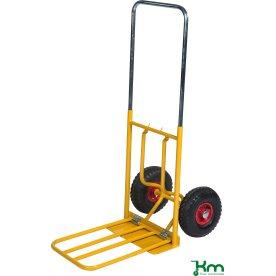Sækkevogn, teleskophåndtag, lufthjul, 150 kg