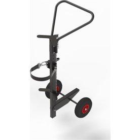 Gasflaskevogn, ergonomisk, lufthjul