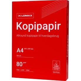 Lomax kopipapir/printerpapir A4/80g/500 ark